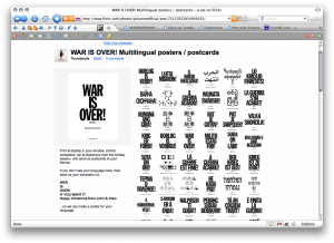 WAR IS OVER! Multilingual posters _ postcards - a set on Flickr
