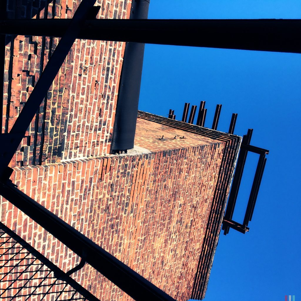 looking up from the fire escape
